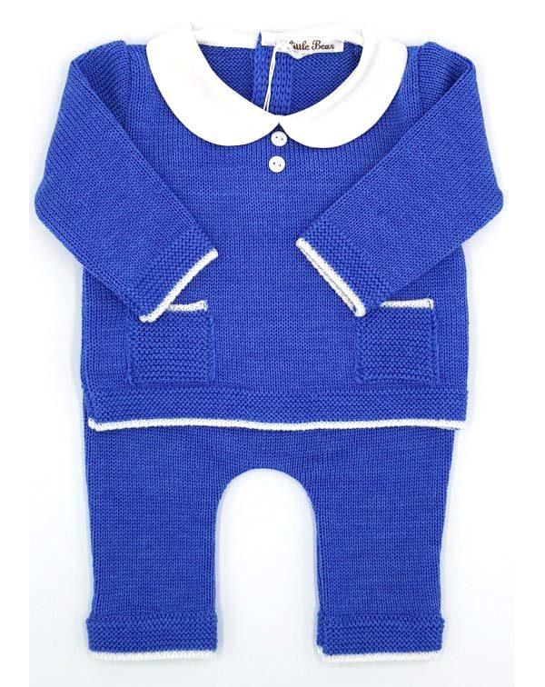 Completo lana blu