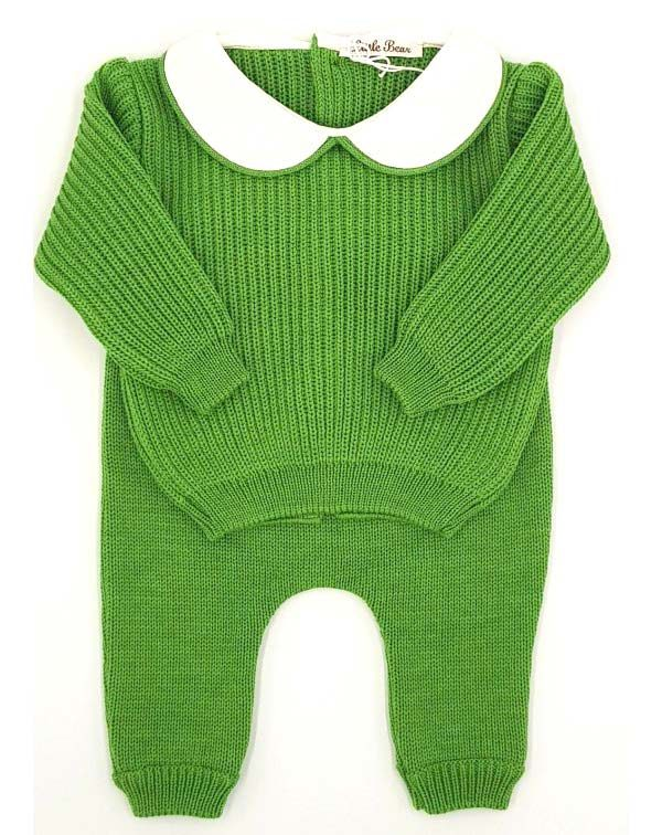 Completo lana verde