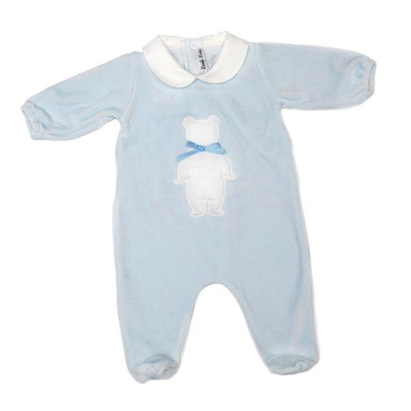 Moda-Bimbi-Little-Bear-Tutina-Azzurra