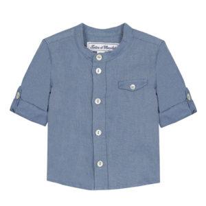 Tartine Et Chocolate-outlet-bambini-chemise-tunisienne-bleu-nuage-en-lin2