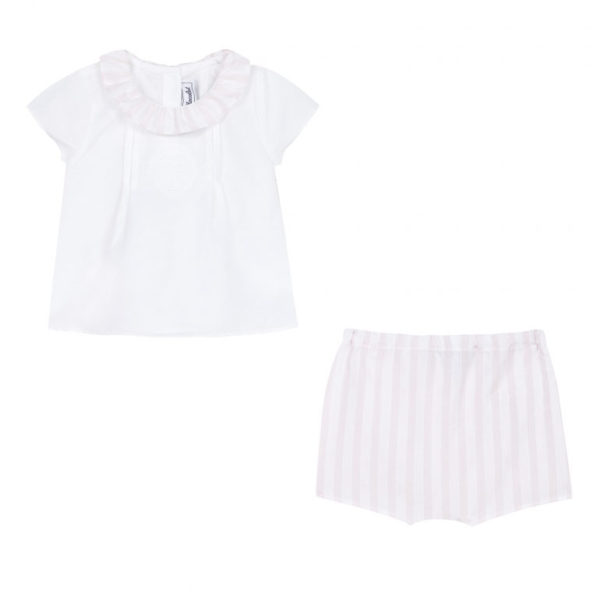 tartine et chocolate-outlet-bambini-pyjama-coton-lin-et-garda-rose-pale