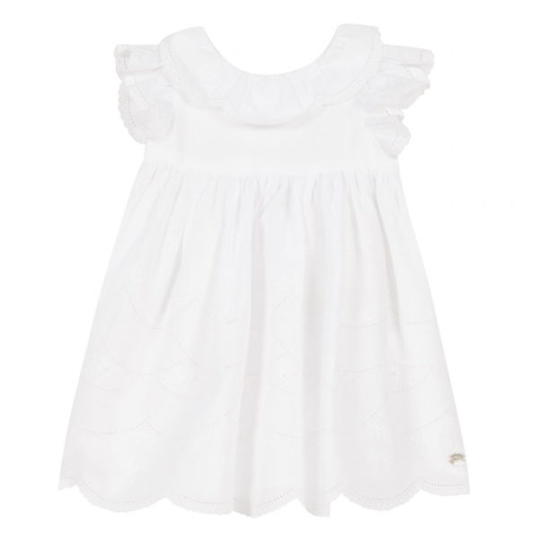 tartine et chocolate-outlet-bambini-robe-blanche-voile-brode