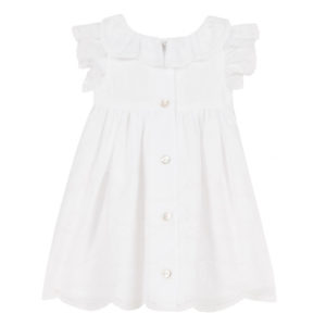 Tartine Et Chocolate-outlet-bambini-robe-blanche-voile-brode2