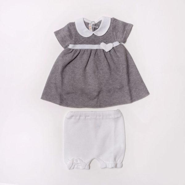 Abbigliamento-bambini-Baby-Lord-abito-grigio-bambina