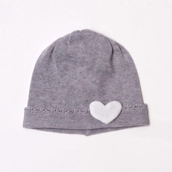 Abbigliamento-bambini-Baby-Lord-cappellino-grigio-cuore
