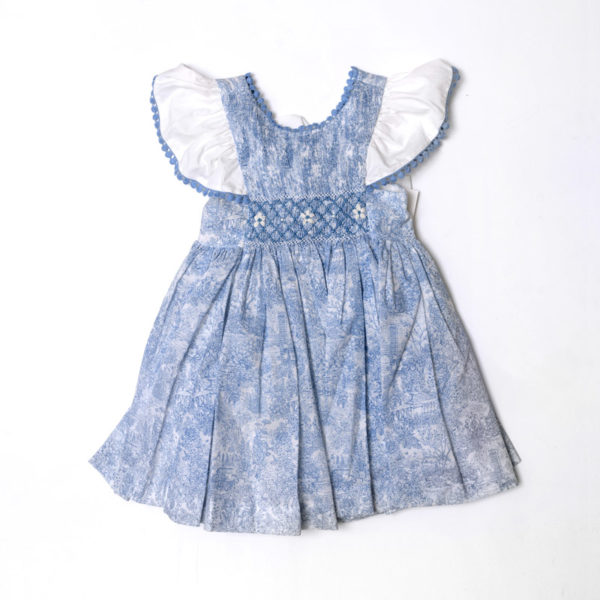 Abbigliamento-bambini-Martin-Aranda-abitino-blu-indaco