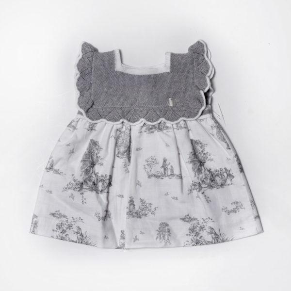 Abbigliamento-bambini-Martin-Aranda-abitino-grigio-e-bianco