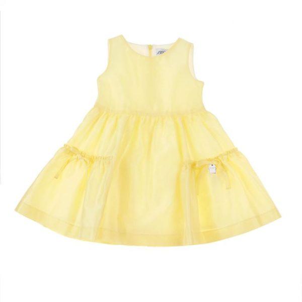 Abbigliamento-bambini-simonetta-abito-primavera-giallo