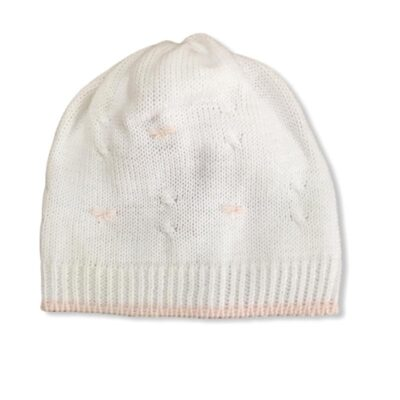 Little Bear Cappellino Neonati Con Ricami In Rosa