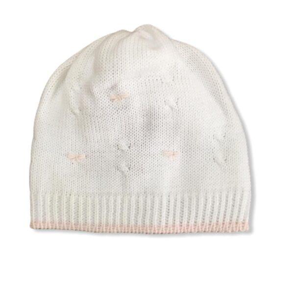 Little Bear cappellino neonati con ricami in rosa