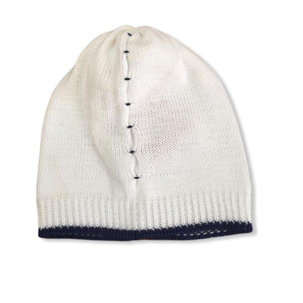 Little Bear cappellino per neonati con ricami blu