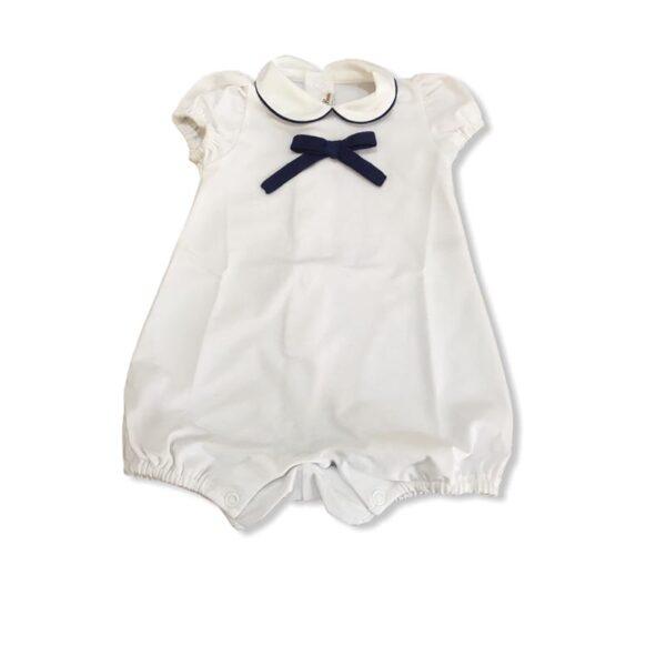 Little Bear pagliaccetto per neonato con fiocco blu