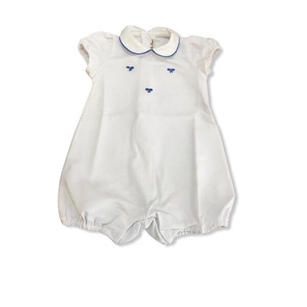 Little Bear pagliaccetto neonato con fiocchi blu