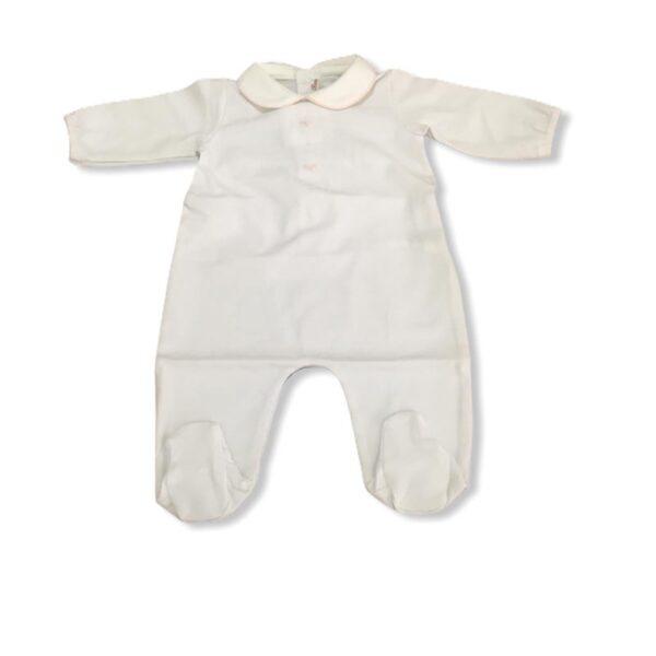 Little bear tutina neonata bianca o con fiocchi e dettagli in rosa