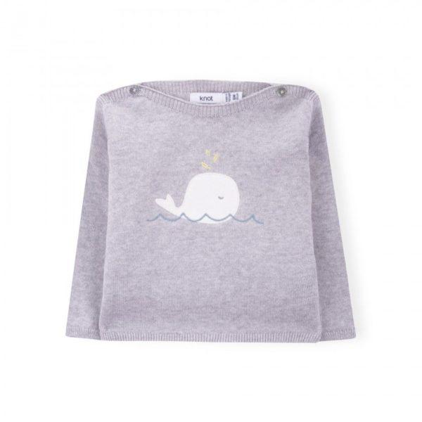 shopping-online-Knot-primavera-estate-maglia-grigia-con-balena