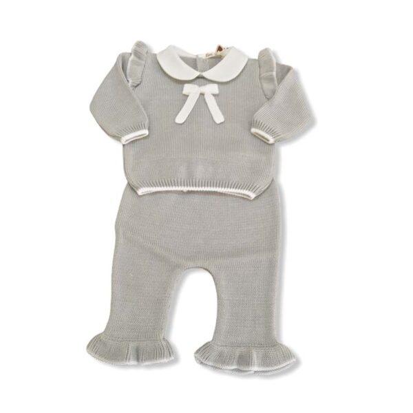 Little bear completo 2 pezzi neonati grigio