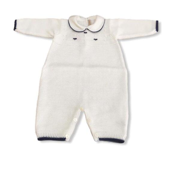 Little Bear tutina con dettagli blu per neonato