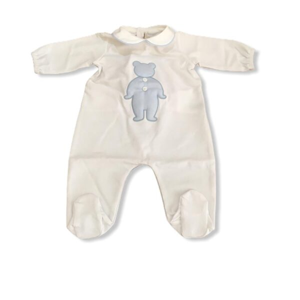 Little Bear tutina neonato con orsetto blu