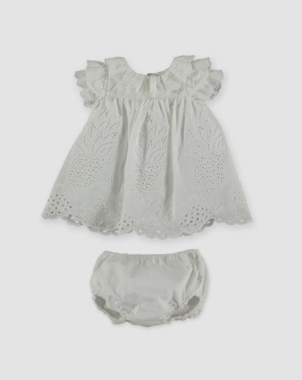 Pan con chocolate abbigliamento bambine abitino bianco