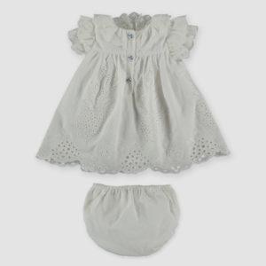Pan Con Chocolate Abbigliamento Bambine Abito Bianco