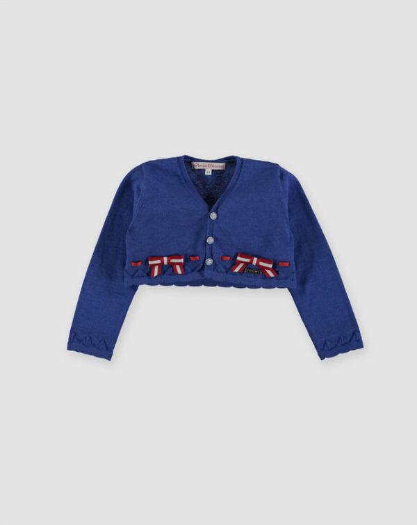Pan con chocolate abbigliamento online camicetta copri spalla blu