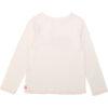 Billieblush abbigliamento bambina maglia bianca con scritta retro