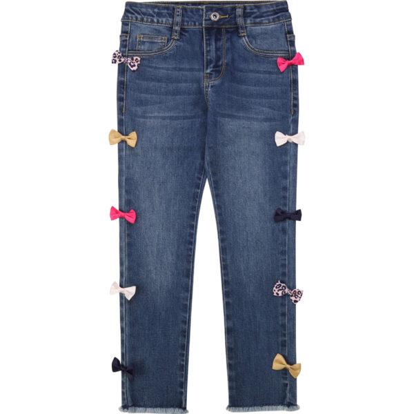 Billieblush abbigliamento bambina jeans con fiocchetti colorati