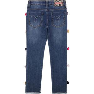 Billieblush Abbigliamento Bambina Jeans Con Fiocchetti Colorati Retro