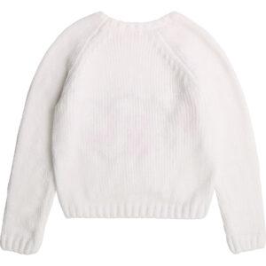 Billieblush Abbigliamento Bambina Maglia Girl Bianca Con Cuore Rosso Retro