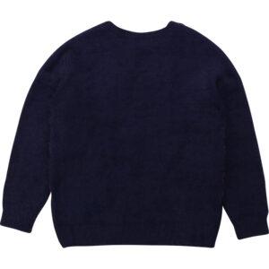 Billieblush Abbigliamento Bambina Maglia Rosa E Blu Con Inserti Tondi Retro