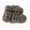 Baby Lord babbucce grigie per neonati con fiocchi