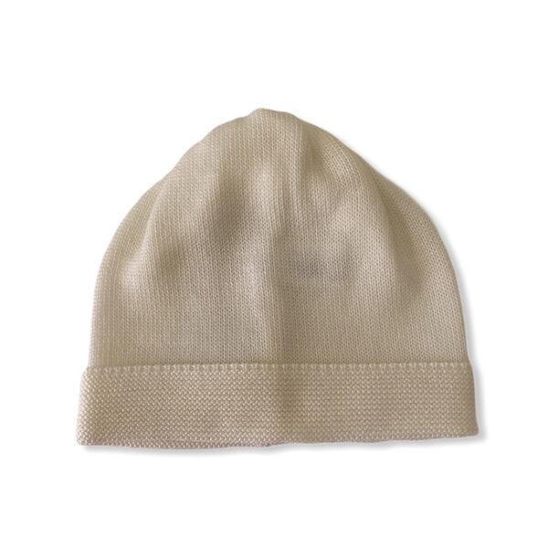 Baby Lord cappellino bianco beige per neonati
