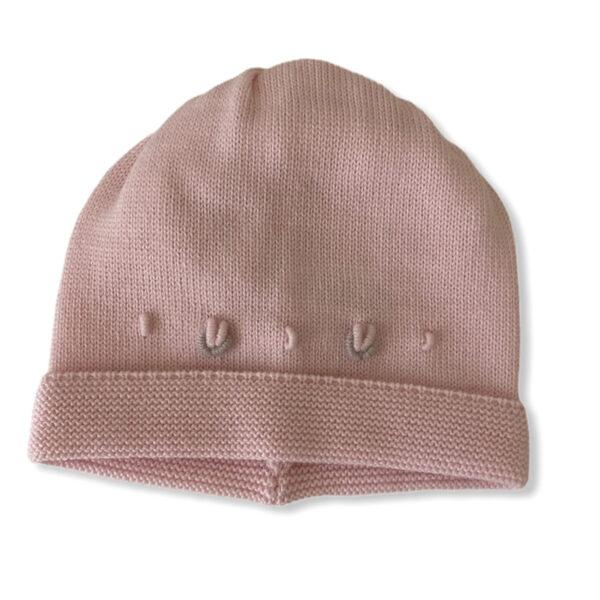 Baby Lord cappellino rosa per neonati con ricami