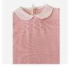 Baby Lord tutina per neonato rosa con colletto bianco vista dettagli