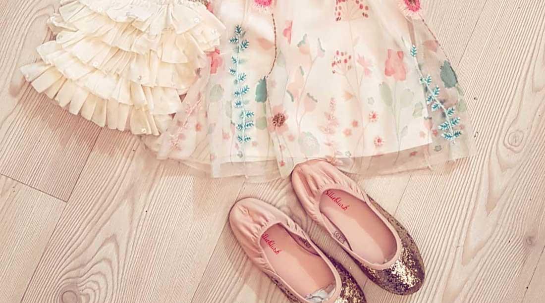 Billieblush moda bambina gonna e scarpe
