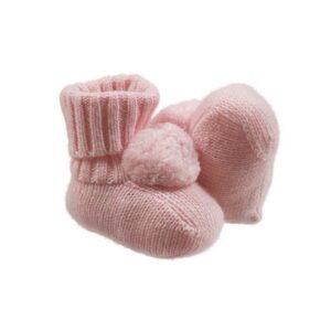 Nanan Outlet Babbucce Rosa Con Pompon Per Bambina