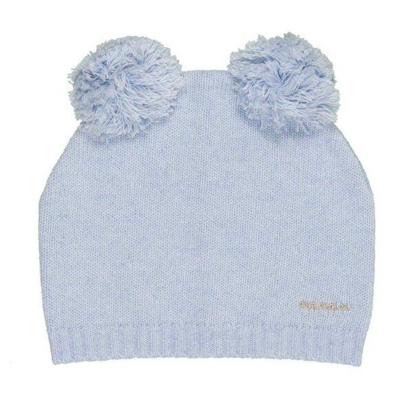 Nanan cappellino azzurro con pompon