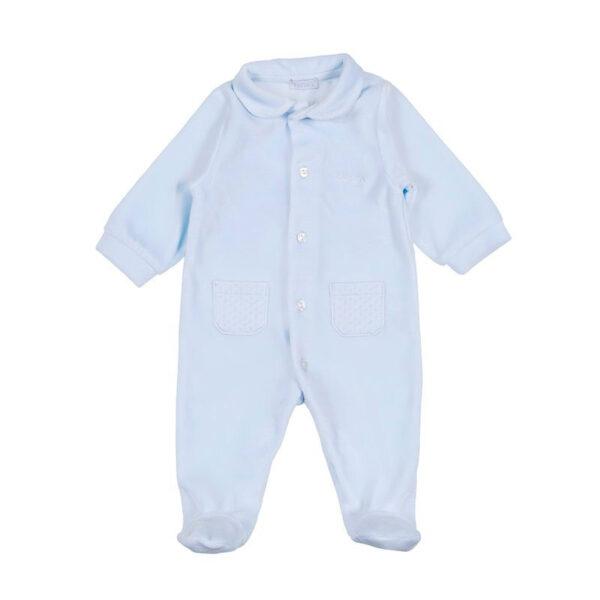 Nanan outlet tutina azzurra per neonato con bottoncini