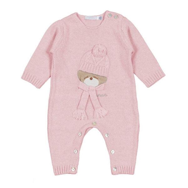 Nanan outlet tutina per neonata rosa con orsetto ricamato