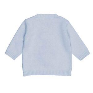 Nanan Shop Maglioncino Azzurro Con Ricamo Orsetto Con Sciarpa E Cappellino Retro