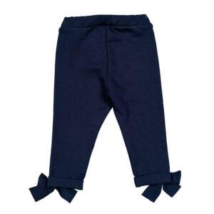 Nanan Shop Pantalone Per Bambina Blu Con Fiocchi Decorativi Retro