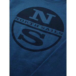 North Sails Maglia Blu Con Logo Centrale