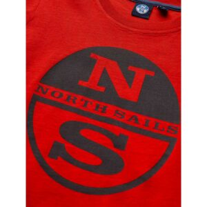 North Sails Tshirt Rossa Con Logo Centrale Grigio