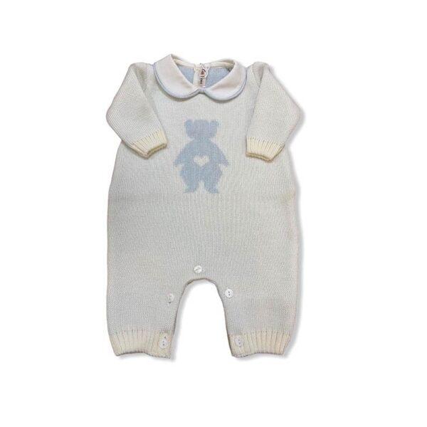 Little Bear tutina grigia per bebè con orsetto azzurro