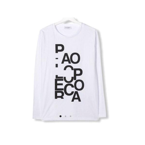 Paolo Pecora maglia manica lunga con scritte