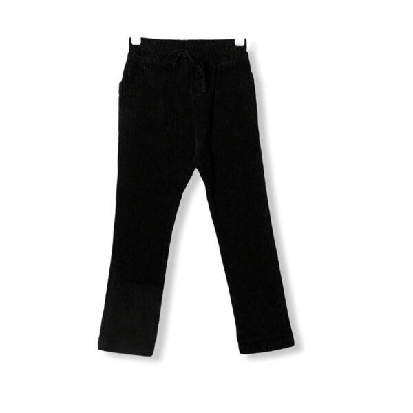 Paola Pecora pantaloni neri vista retro