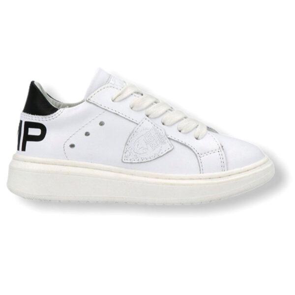 Philippe model scarpe bianche con scritta PMP modello sneakers