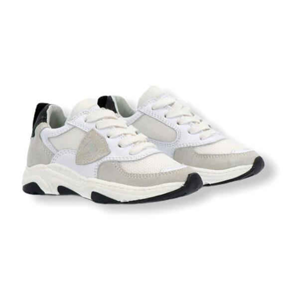 Philippe model scarpe bianche e beige modello sneakers vista laterale