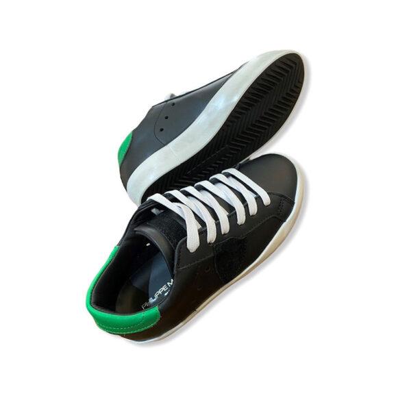 Philippe model scarpe nere e verdi modello Sneakers outlet