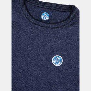 North Sails Abbigliamento Maglia Blu Con Logo Azzurro Dettagli